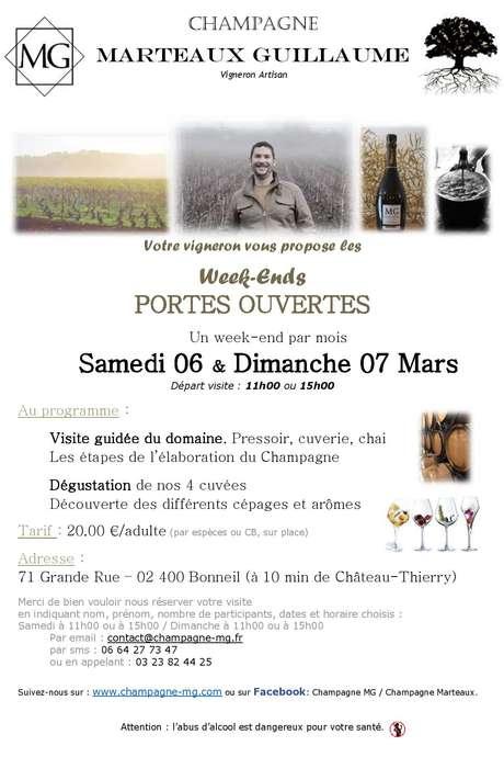 Portes ouvertes au Champagne Guillaume Marteaux