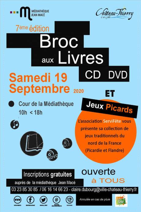 7ème édition BROC aux Livres et aux CD/DVD