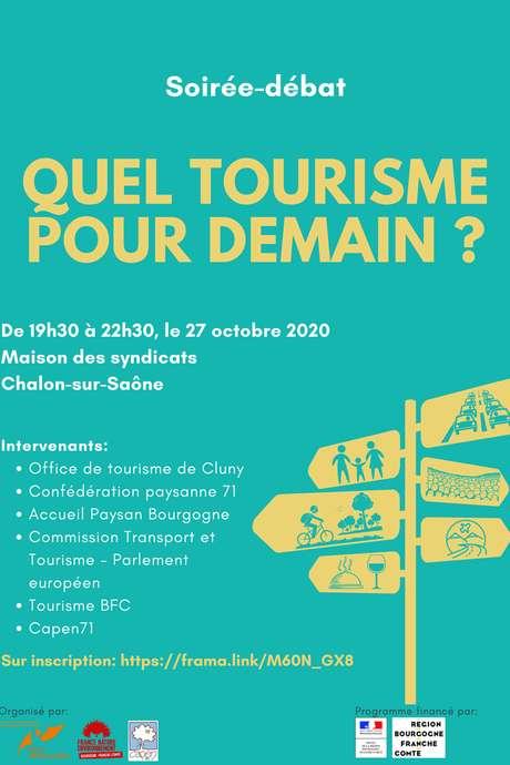 Quel tourisme pour demain ? Soirée débat