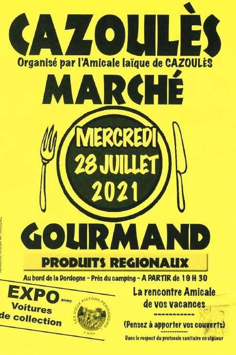 Marché gourmand nocturne de Cazoulès