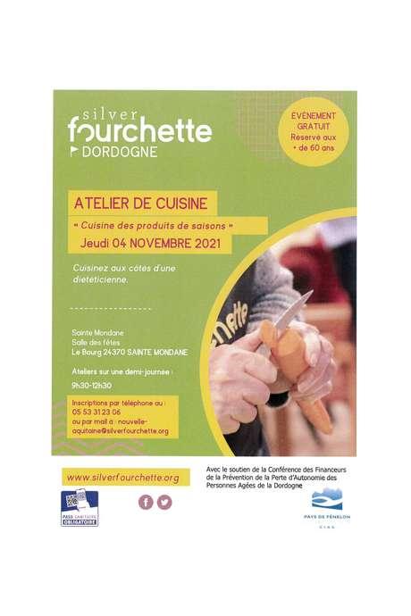 """Atelier de cuisine """"Cuisine des produits de saison"""" à Sainte Mondane (60 ans et +)"""