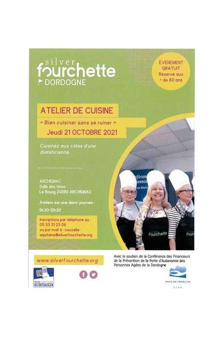 """Atelier de cuisine """"Bien cuisiner sans se ruiner"""" à Archignac (60 ans et +)"""