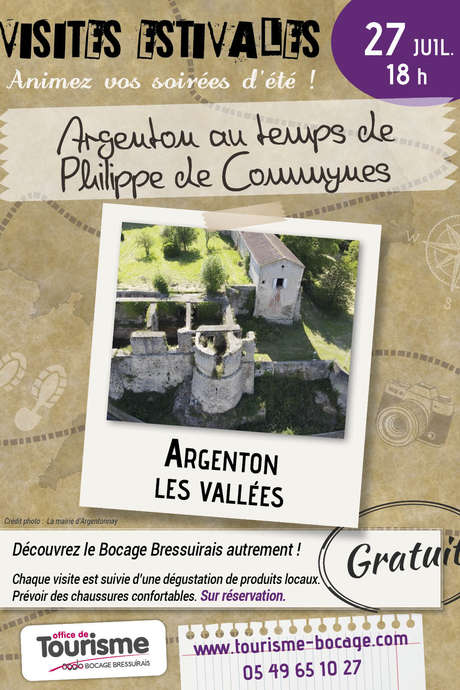 """Visites estivales 2021 - """"Argenton au temps de Philippe de Commynes"""""""