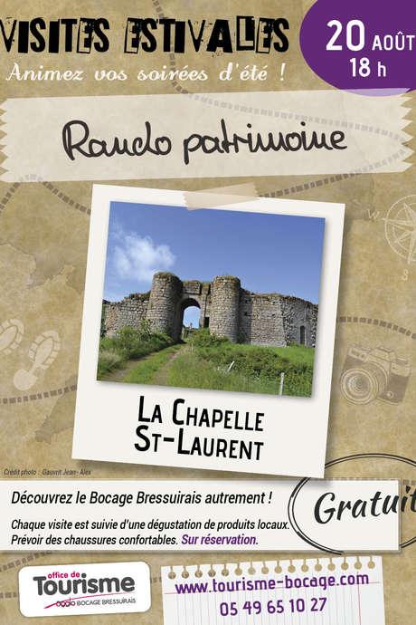 Visites Estivales 2021 - Rando patrimoine - La Chapelle Saint-Laurent