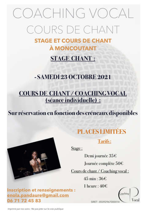 Stage chant / coaching vocal