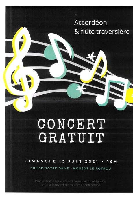 Concert d'accordéon et de flûte traversière