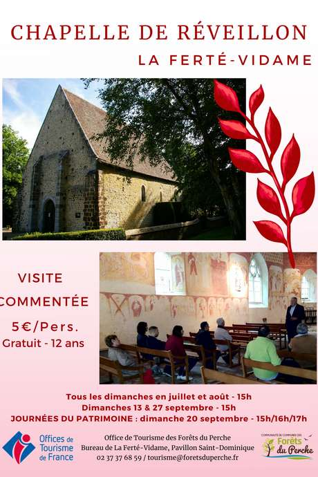 Visite commentée de la Chapelle de Réveillon  et de ses peintures murales du 16ème siècle.