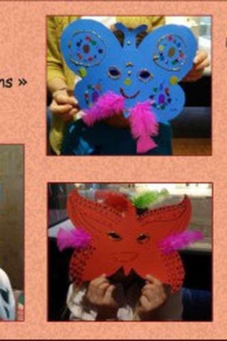 Atelier masques papillons