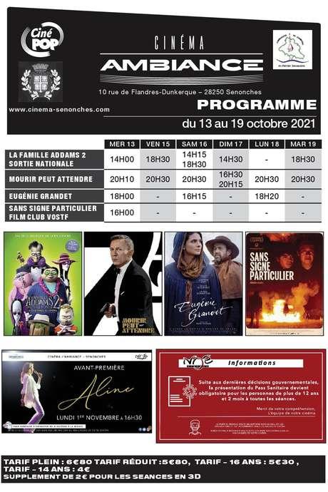 Programme cinéma du 13 au 19 octobre 2021