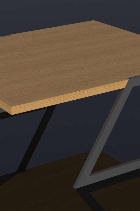 Cours de menuiserie : construction d'une table en acier et bois