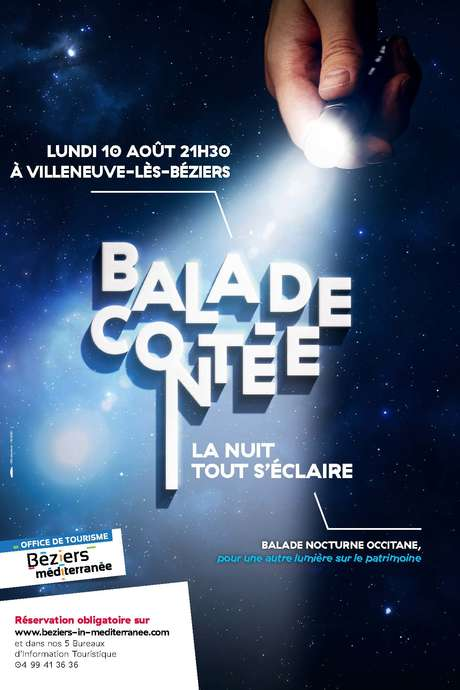 """BALADE CONTÉE """"LA NUIT TOUT S'ÉCLAIRE"""" À VILLENEUVE-LES-BÉZIERS"""