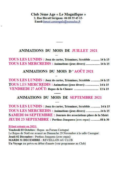 APRÈS-MIDI JEUX AU MAGNIFIQUE