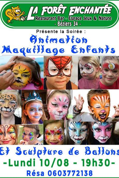 ANIMATION MAQUILLAGE ENFANT A LA FORET ENCHANTEE