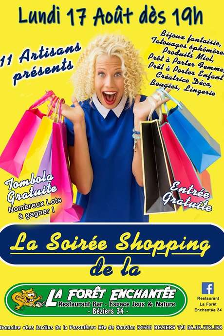 SOIREE SHOPPING FILLES A LA FORET ENCHANTEE