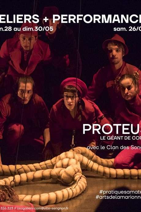 PROTEUS, LE GEANT DE CORDE (RESTITUTION D'ATELIER)