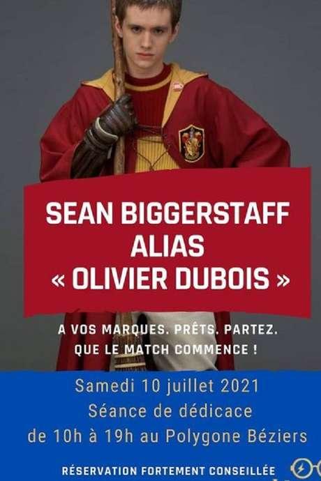 SEANCE DE DEDICACE SEAN BIGGERSTAFF ALIAS OLIVIER DUBOIS DE HARRY POTTER