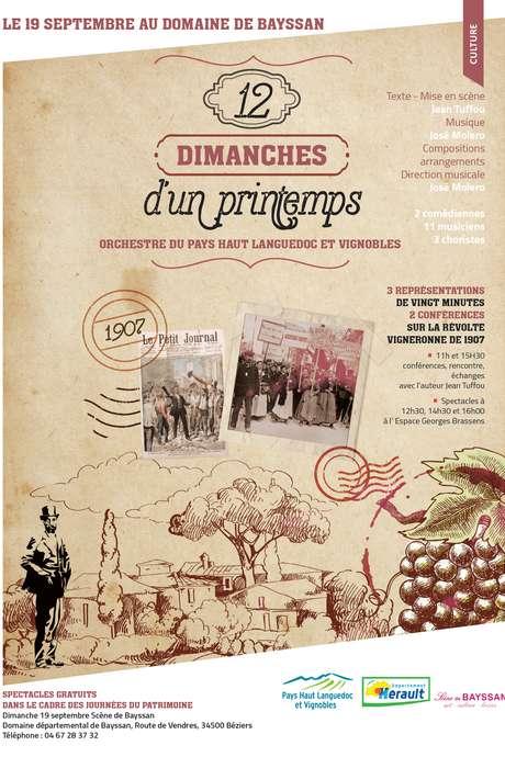 JOURNEES EUROPEENNES DU PATRIMOINE : DOMAINE DE BAYSSAN - 12 DIMANCHES D'UN PRINTEMPS
