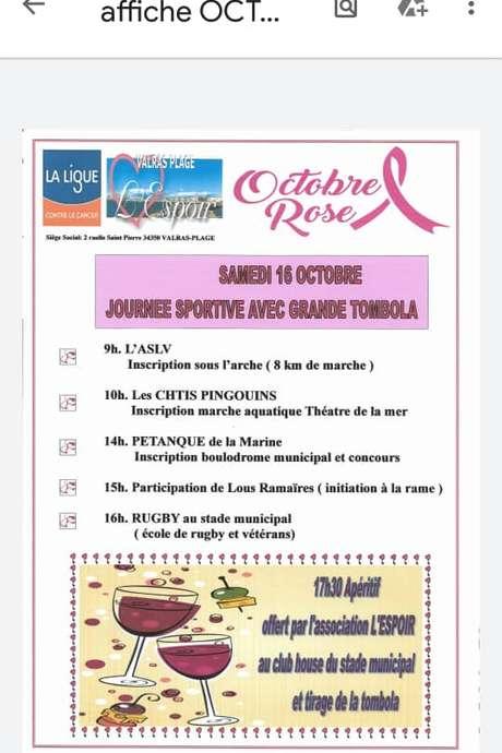 JOURNEE SPORTIVE OCTOBRE ROSE