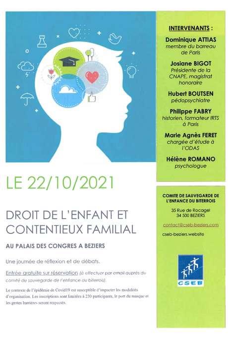 COLLOQUE - DROITS DE L'ENFANT ET CONTENTIEUX FAMILIAL