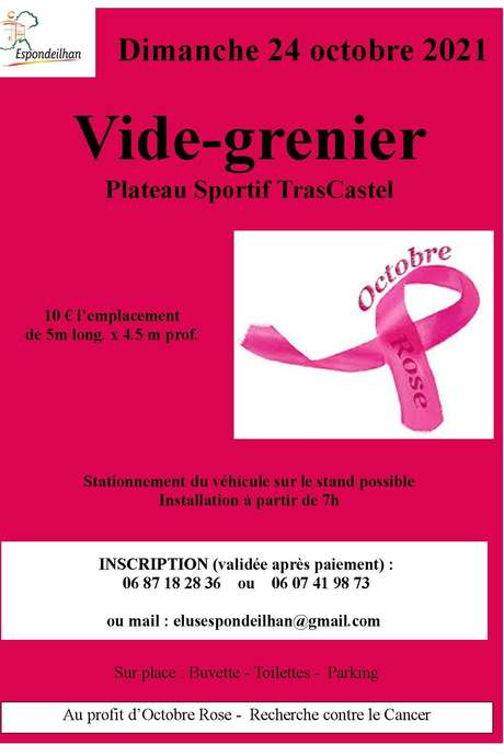 OCTOBRE ROSE - VIDE GRENIER