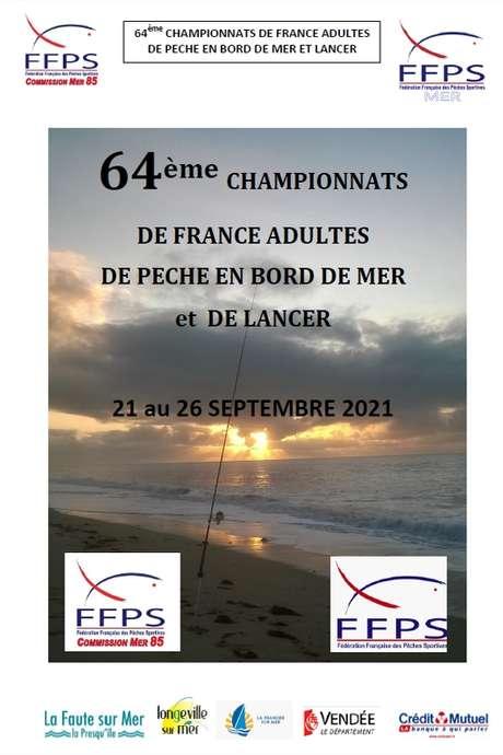 64ÈME CHAMPIONNATS DE FRANCE ADULTES DE PÊCHE EN BORDS DE MER ET DE LANCER