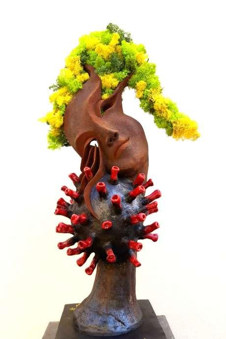 Exposition de Christine Dupont / sculpture & de Rosy M. / peinture