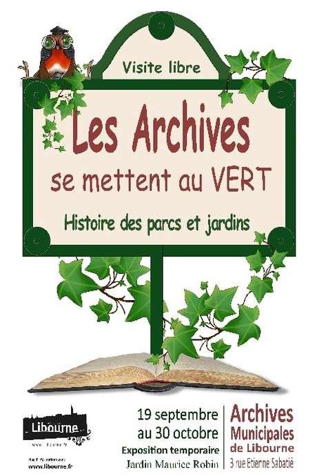 Les archives se mettent au vert - Histoire des parcs et jardins