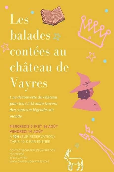 Les balades contées au Château de Vayres