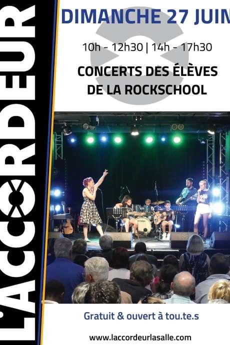 CONCERT DES ELEVES DE LA ROCKSCHOOL DE L'ACCORDEUR