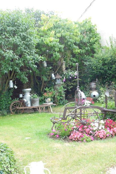 Portes ouvertes dans le jardin lors des Journées du Patrimoine : chez Madame Colette FOCQUEUR