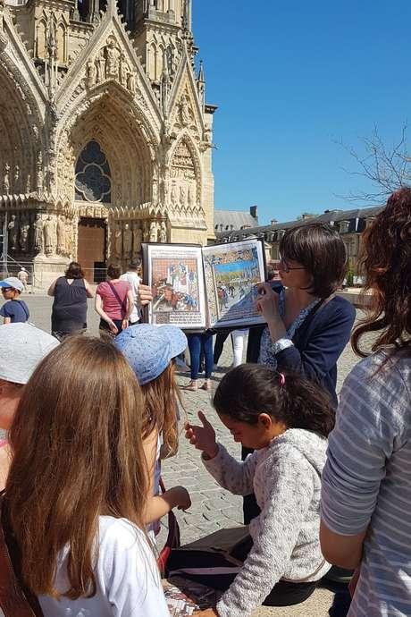 Visite de la Cathédrale de Reims pour les enfants