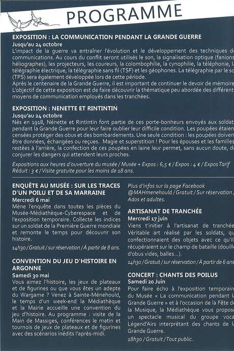 EXPOSITION : LA COMMUNICATION PENDANT LA GRANDE GUERRE
