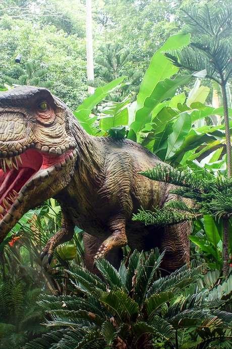 Selfie avec un Dino