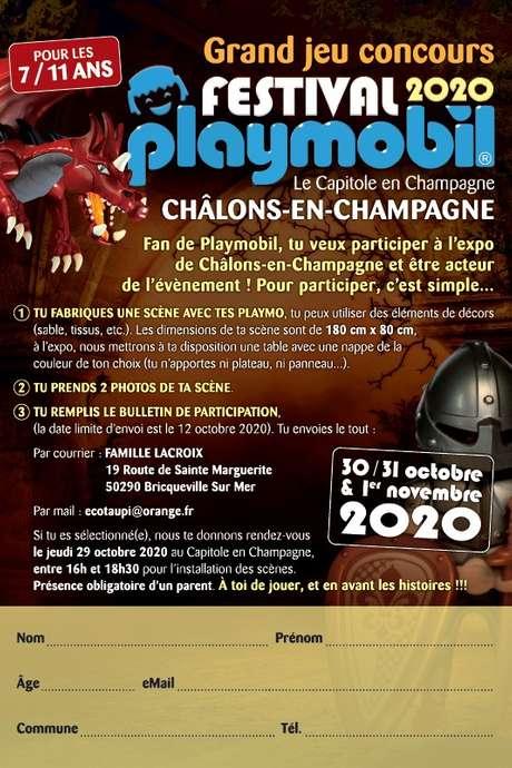 Grand Jeu Concours Festival Playmobil 2020 - Annulé