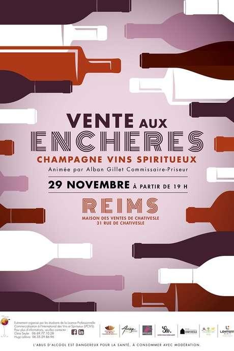 Vente aux enchères de champagne, vins et spiritueux