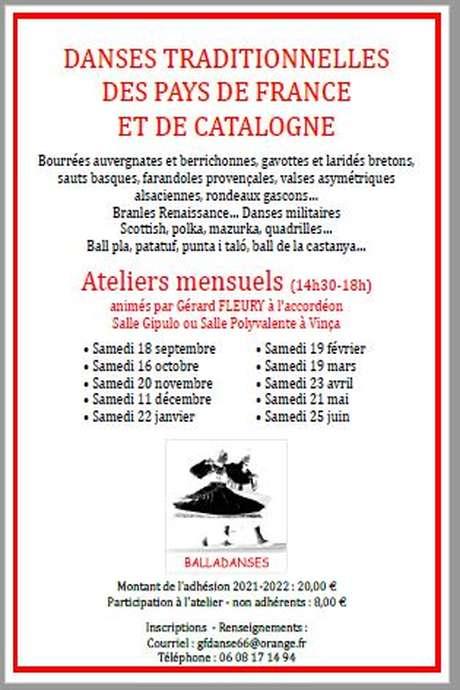 ATELIER DANSES TRADITIONNELLES DE FRANCE ET DE CATALOGNE