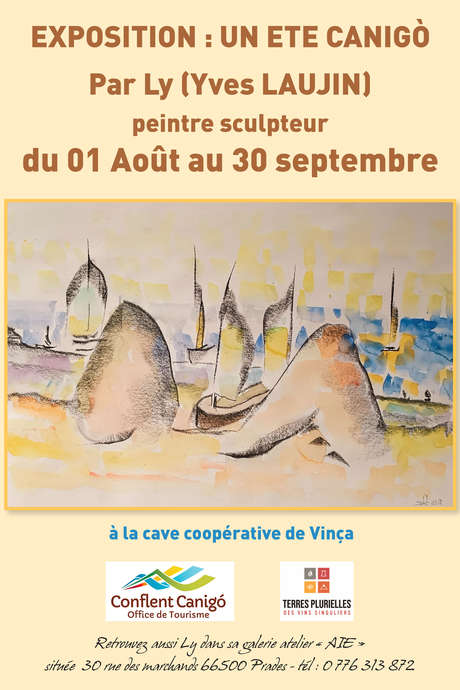 VERNISSAGE / EXPOSITION AQUARELLES LY (YVES LAUJIN)