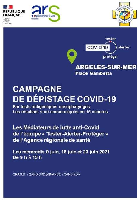 CAMPAGNE DÉPISTAGE COVID-19