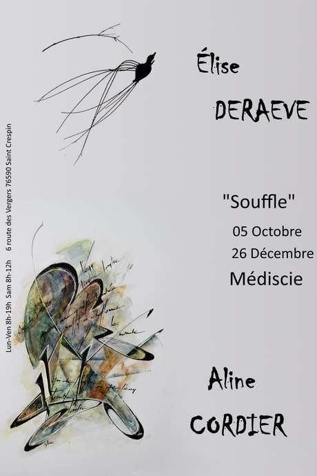 """Exposition : Elise Deraeve et Aline Cordier, """"Souffle"""""""