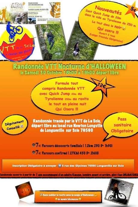 Randonnée VTT nocturne d'Halloween