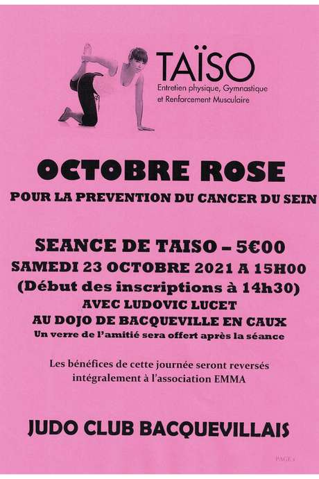 Séance de Taïso au profit d'octobre rose