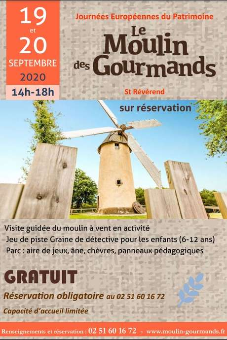 JOURNEES EUROPEENNES DU PATRIMOINE - MOULIN DES GOURMANDS