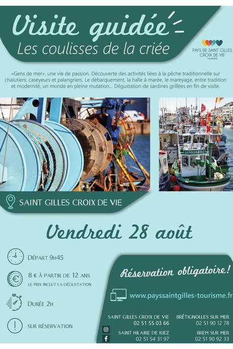 """VISITE GUIDÉE """"LES COULISSES DE LA CRIEE"""" 28-08-2020"""