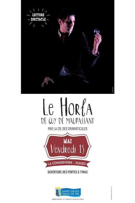"""LECTURE SPECTACLE : """"LE HORLA"""" DE GUY DE MAUPASSANT -"""