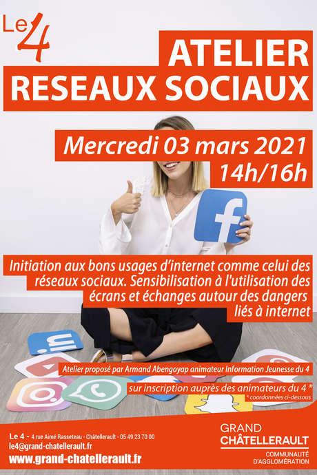 """Annulé   Atelier """"Réseaux Sociaux"""""""