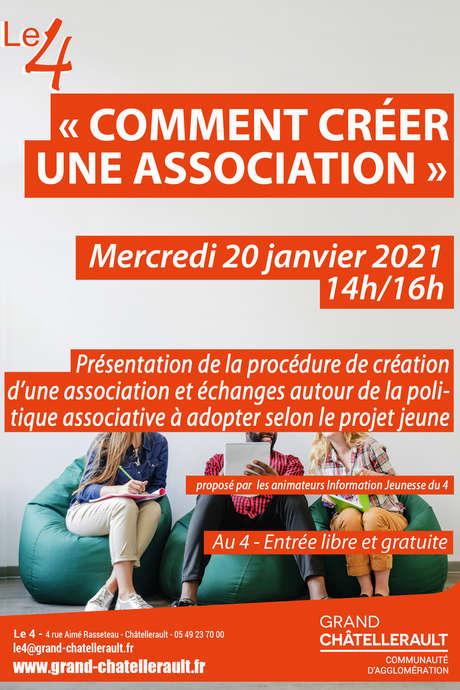 """Atelier """"Comment créer une association"""""""