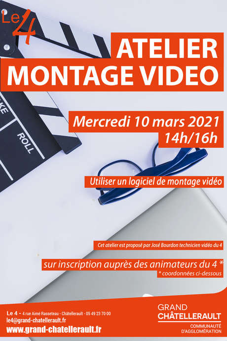 """Annulé   Atelier """" Montage Vidéo"""""""