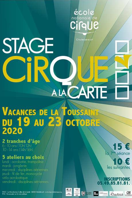Stage cirque à la carte 6-14 ans