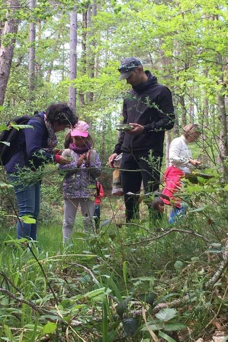 Bain de nature en famille