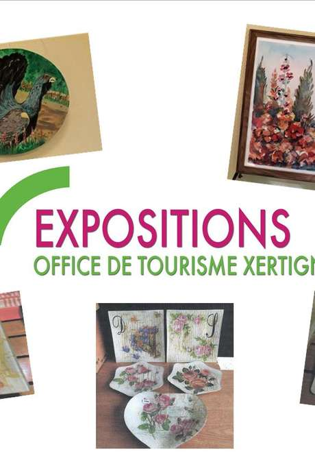 EXPOSITION : AQUARELLES & COLLAGES DE SERVIETTES SUR VERRE